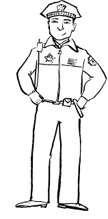 Police Women And Policeman Coloring Pages Kids Officer Viettiinfo