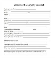 Wedding Photography Contract Template Word U2013