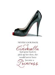 Christian Princess Quotes Best Of CHRISTIAN LOUBOUTIN Black Shoe Art Print Cinderella Princess