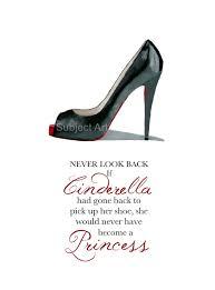 Christian Princess Quotes Best Of CHRISTIAN LOUBOUTIN Black Shoe Art Print Cinderella Princess