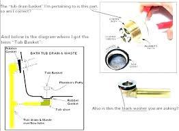 how to install bathtub drain replace bathtub drain how to seal a bath installing bathtub drain