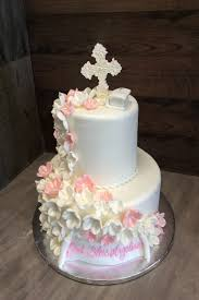 Baptism Cake Pearly Cross