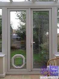 dogwalk dog flap in double glazed upvc door