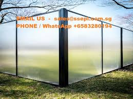 frosted glass fence panels
