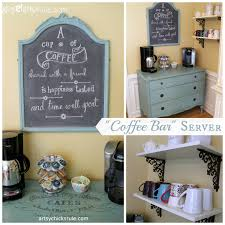 coffee bar server w shelves it moved artsy chicks rule® coffee bar station annie sloan chalk paint shelves