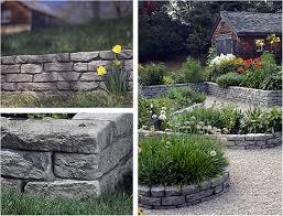 stone themed plastic borders