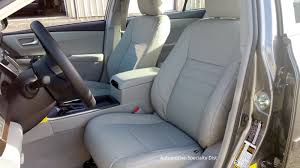 katzkin ash replacement leather interior seat covers fits 2016 2017 toyota camry le
