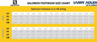 Salomon Running Shoes Size Chart Salomon Hiking Shoe Size Chart Best Picture Of Chart