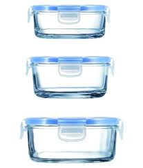 luminarc pure box glass food container set of 3