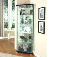 decoration corner display cabinet glass oak effect silver cabinets with lights