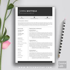 Resume Cv Template Cover Letter For Ms Word Creative