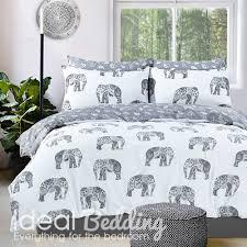 grey elephant print duvet set and pillowcase bedding set duvet sets complete bedding sets bed sheets pillowcase