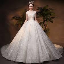 Luxury / Gorgeous Ivory See-through Wedding Dresses <b>2019</b> Ball ...