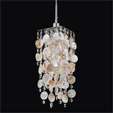glow lighting cityscape shell and crystal one light mini pendant