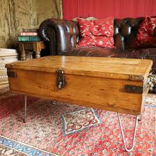 22 unique pics of military trunk coffee table