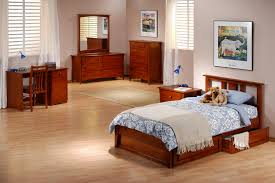 Kids Bedroom Suites Night And Day Thyme Panel Bed In Medium Oak Beyond Stores