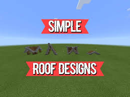 Simple Roofing Designs Simple Roof Designs Minecraft Amino