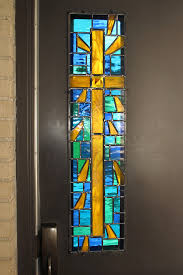 stained glass doors entryway gallery painted light