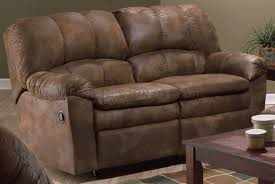 ashworth brown genuine leather recliner sofa couch loveseat