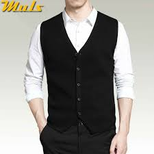 4Colors <b>Men</b> Sleeveless Sweater Vest Autumn Spring <b>100</b>% <b>Cotton</b> ...