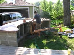 Cinder Block Outdoor Kitchen How To Build Outdoor Kitchen With Cinder Blocks Best Kitchen