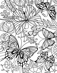 Stained Glass Butterfly Adult Coloring Page