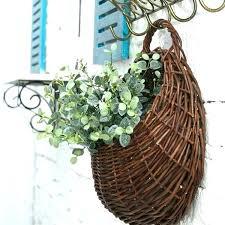 wicker wall baskets wall baskets decor wicker new rattan flower unique hanging pot for artificial plants