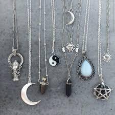 jewels sun moon necklace gemstone yin yang moon moon and sun stone necklaces silver jewelry in
