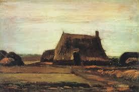 farm with stacks of peat oil on canvas 37 5 x 55 0 cm nieuw amsterdam mid november 1883 amsterdam van gogh museum