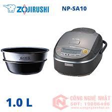 Nồi cơm điện 2 đáy cao tần áp suất IH hiệu Zojirushi NP-SA10 1.0L màu  đen-xám 2nd 97%_Nồi Cơm Cao Tần Áp Suất_Nồi Cơm Đã Qua Sử Dụng - Trưng  bày_Nồi Cơm