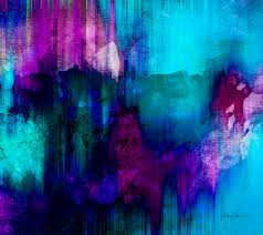 abstract painting blue rain abstract art by ann powell