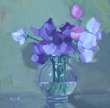 margaret s milligan painting by day sweet pea painting