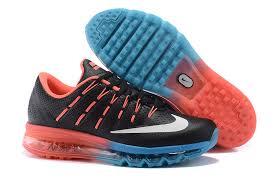 nike running shoes 2014 men black. nike air max 2016 leather mens shoes black blue red running 2014 men