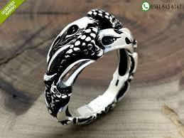 925 Ayar Gümüş Özel Kartal Pençesi Tasarım Erkek Yüzük Stok Kodu:20181478 -  925 Ayar Gümüş Özel Pençe Tasarım Erkek Yüzük Modelleri