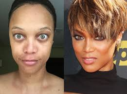 tyra banks from stars without makeup the america s next top model star gets real on insram sharing an au naturale selfie with a few inspiring words