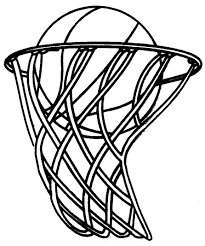 Basketball Drawing Pictures Basketball Hoop Coloring Page Book For Kids