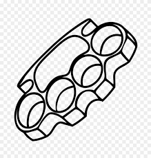Worn around the knuckles, it can seriously. Brass Knuckles Decal Brass Knuckle Drawings Clipart 1542961 Pikpng