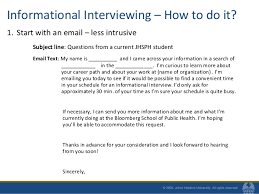 Informational Interview Request Email Improving Your Networking Skills Fall 2010