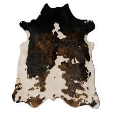 binx powerloomed faux cowhide beige brown area rug