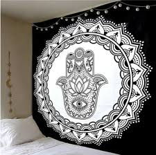 200 150cm large black and white simple tapestry hamsa hand tapestry wall hanging mandala tapestries indian hippie large wall art cloth textile wall hangings  on black art tapestry wall hangings with 200 150cm large black and white simple tapestry hamsa hand tapestry