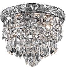 elegant lighting 2526f8c sa tranquil 2 light 8 inch chrome flush mount ceiling light in spectra swarovski
