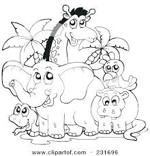 Coloring Pages Forest Animals Scary Dinosaur Coloring Pages Forest Animals Page Animal 1 Cute Free