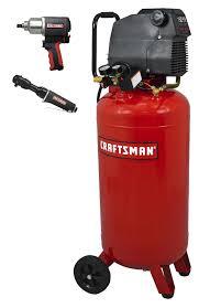 air compressors portable air compressors sears craftsman 26 gallon 1 5 hp air compressor 150 max psi bonus impact wrench and ratchet