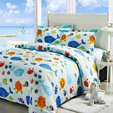 ocean park duvet cover set light blue boys bedding kids bedding full size