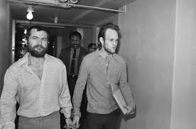 calif governor denies parole to charles manson follower ny  22 1970 file photo shows charles manson followers bruce davis left and steve grogan leaving court after a hearing in los angeles