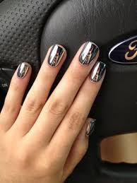 black nail art designs and ideas 19