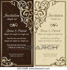 Baroque Wedding Invitations Clip Art Of Baroque Wedding Invitation Brown K23115598 Search