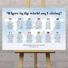 Map Seating Chart Wedding World Map Wedding Seating Chart