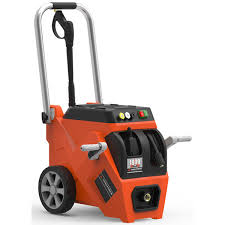 yard force 1800 psi electric pressure washer with live hose reel and turbo power