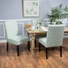 christopher knight home catania fabric dining chair set of 2 blue white